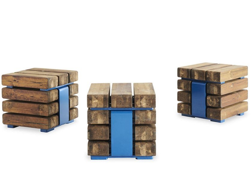 Pine outdoor chair KONG CUBE by VESTRE