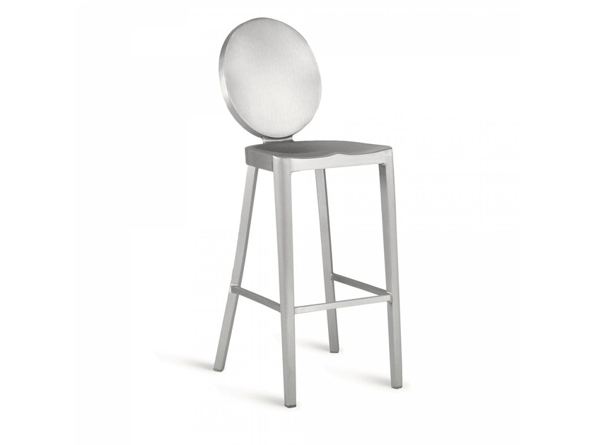 High aluminium stool KONG | High stool by Emeco