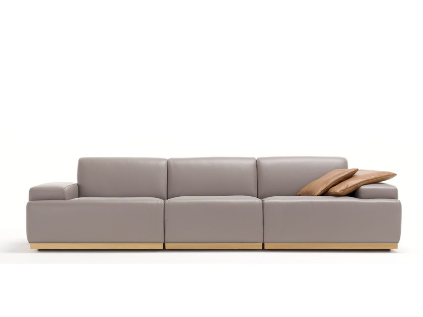 4 seater leather sofa KONGENS | 4 seater sofa by Egoitaliano