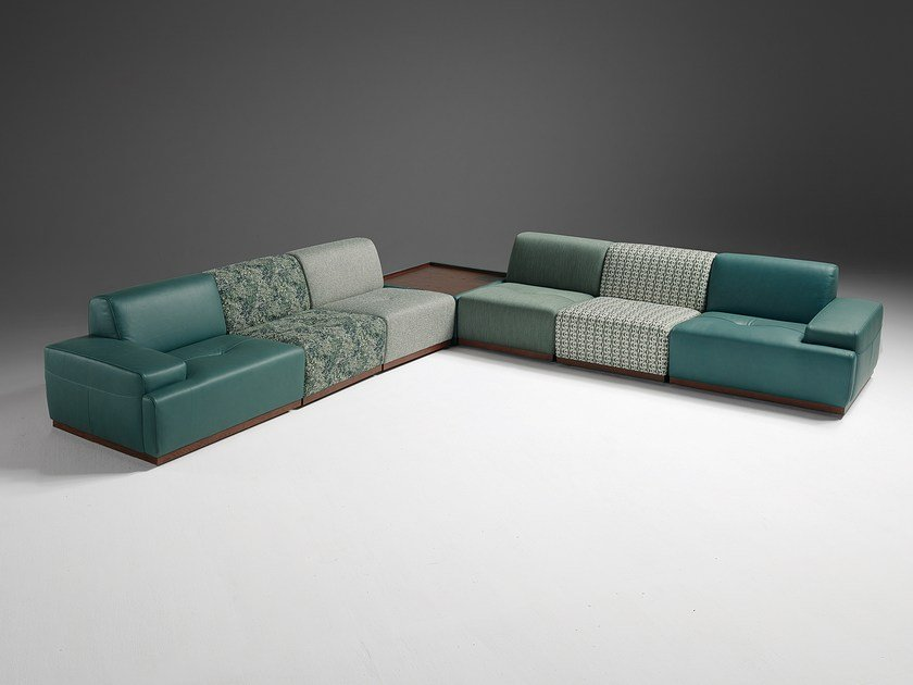 Corner modular fabric sofa KONGENS | Corner sofa by Egoitaliano