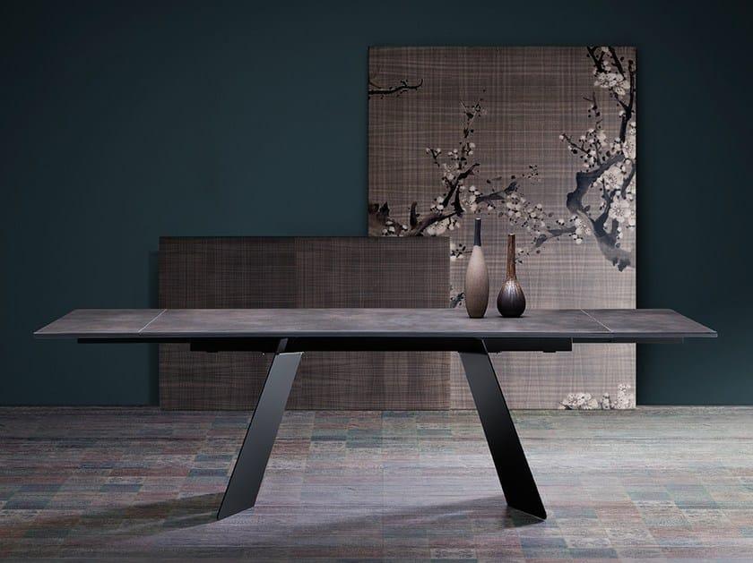 Extending rectangular table KORAL by Natisa