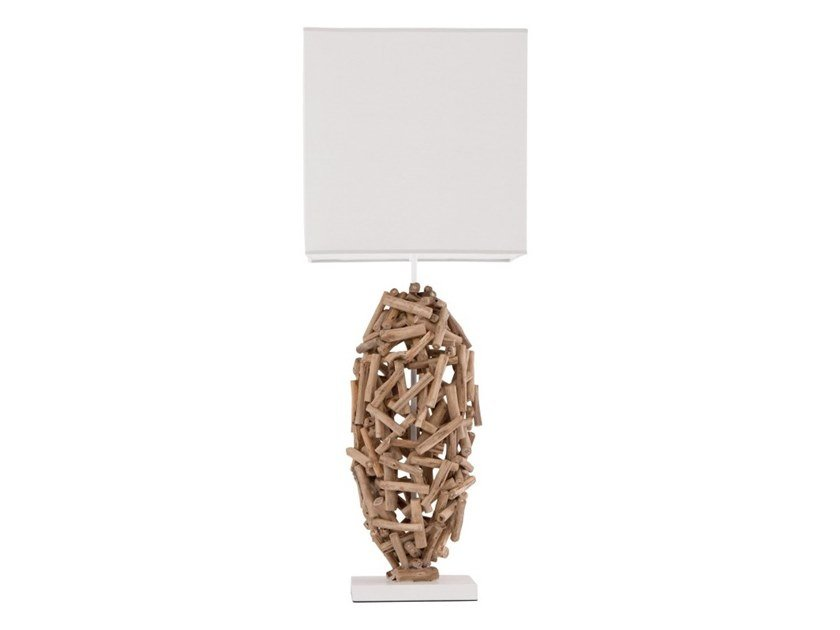 Wooden table lamp KORBA by Flam & Luce