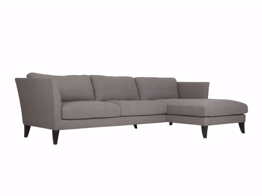 Upholstered 3 seater fabric sofa with chaise longue KORIANDER | Sofa with chaise longue by SITS