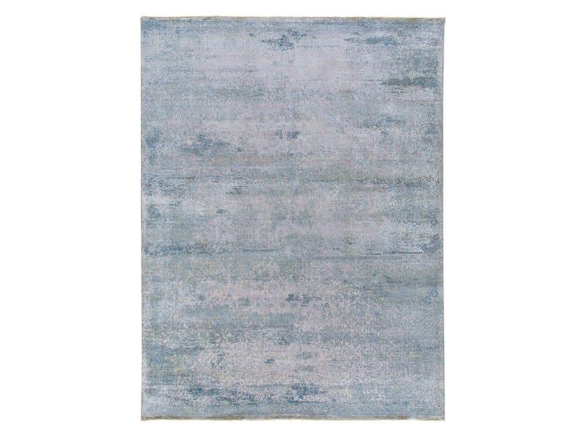 Handmade custom rug KORK REINTEGRATED GREY BLUE by Thibault Van Renne