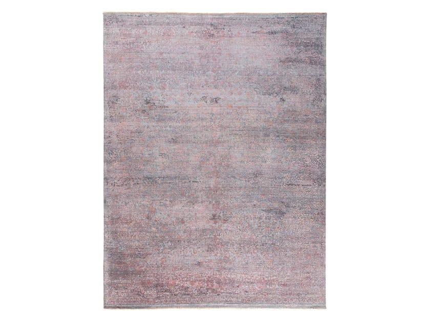 Handmade custom rug KORK REINTEGRATED GREY PINK by Thibault Van Renne