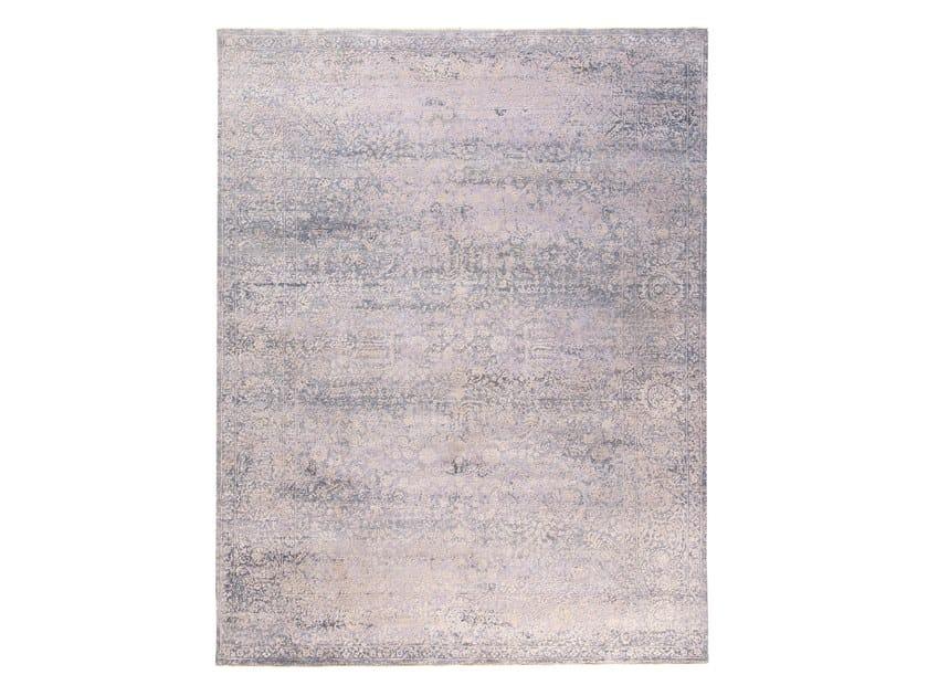 Handmade custom rug KORK REINTEGRATED WHITE by Thibault Van Renne