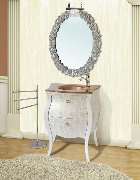 Lacquered vanity unit with drawers with mirror KOS CM40DC by LA BUSSOLA
