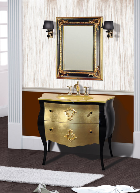 Lacquered vanity unit with drawers with mirror KOS CM50DC by LA BUSSOLA