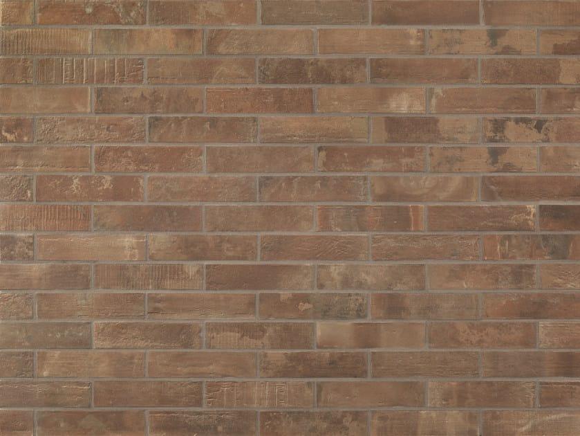 Wand- und Bodenbelag aus Feinsteinzeug mit Backstein-Effekt für ...