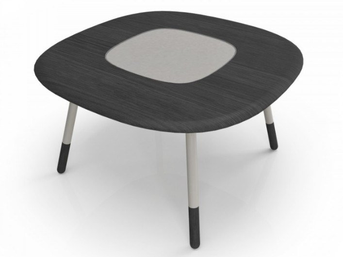 Square oak and glass dining table KOVAL | Oak table by Huppé