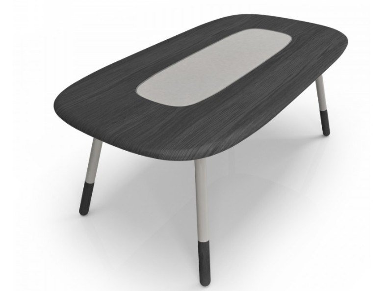 Rectangular oak and glass dining table KOVAL | Rectangular table by Huppé