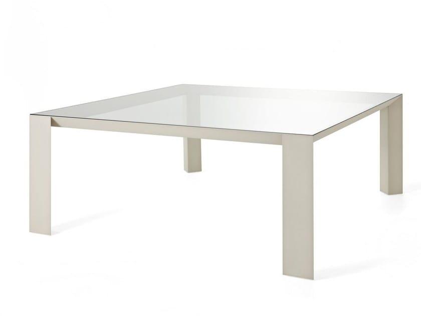 Tavolo quadrato in alluminio e vetro KOY | Tavolo quadrato by Gallotti&Radice