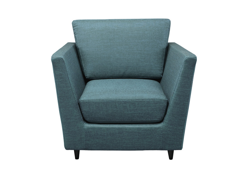 Upholstered fabric armchair with armrests KRAVITZ   Armchair by AZEA
