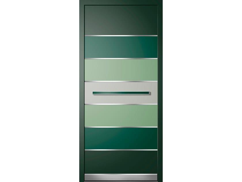 Aluminium armoured door panel KREO/B by ROYAL PAT