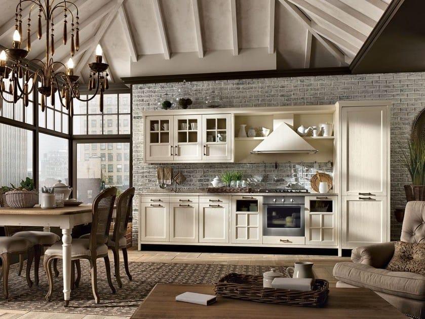 Cucina componibile in legno massello KREOLA - COMPOSIZIONE 05 by Marchi Cucine