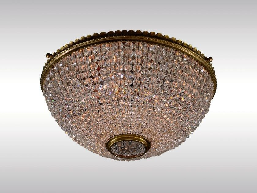 Classic style crystal ceiling lamp KRISTALL-DECKENKORB by Woka Lamps Vienna