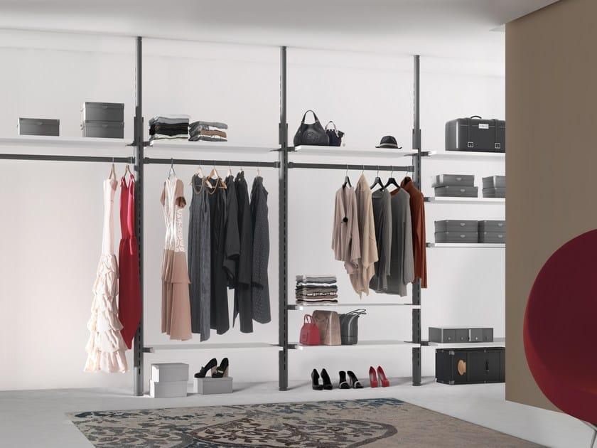 Sectional metal walk-in wardrobe KRISTHO   Walk-in wardrobe by De Rosso