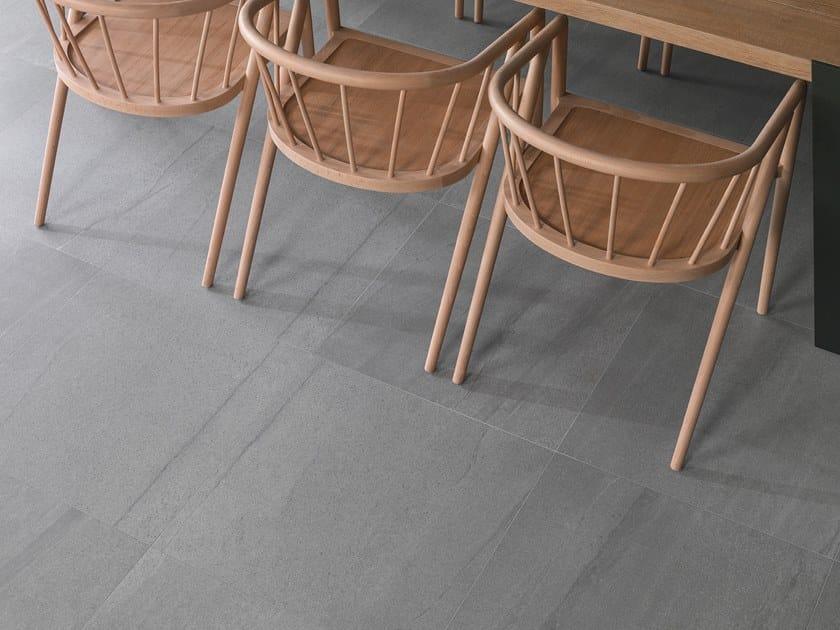 Porcelain stoneware wall/floor tiles with stone effect KRONO GREY by URBATEK
