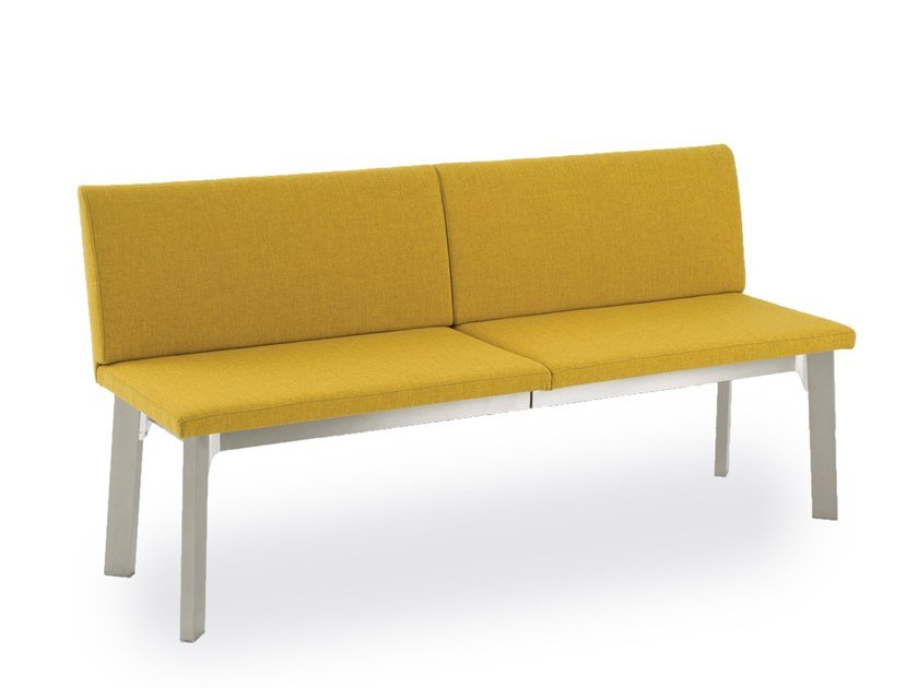 Extending upholstered fabric bench with back KRONO | Bench by Pointhouse
