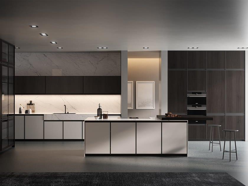 Küche aus Laminat mit Kücheninsel KRONOS | Küche mit ...