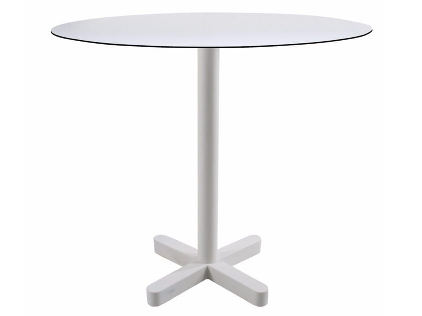 Metal table base with 4-spoke base KROSS by Papatya