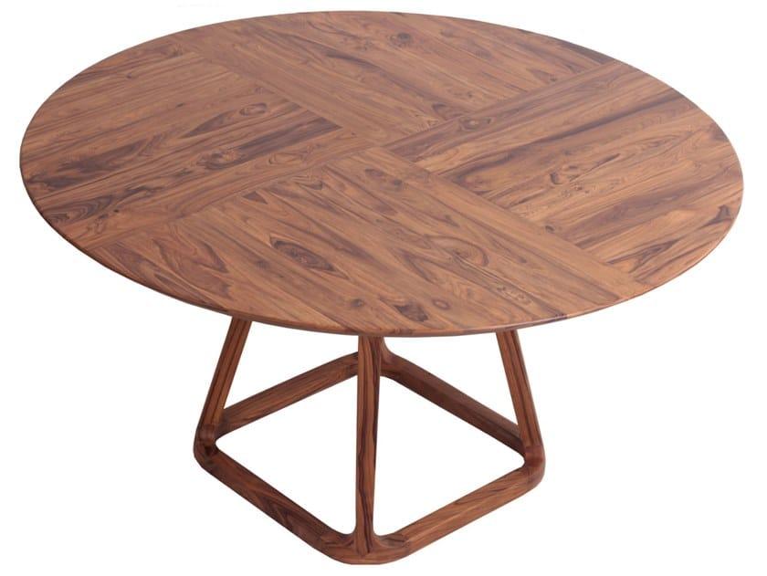 Round teak table KRUG | Teak table by ALANKARAM