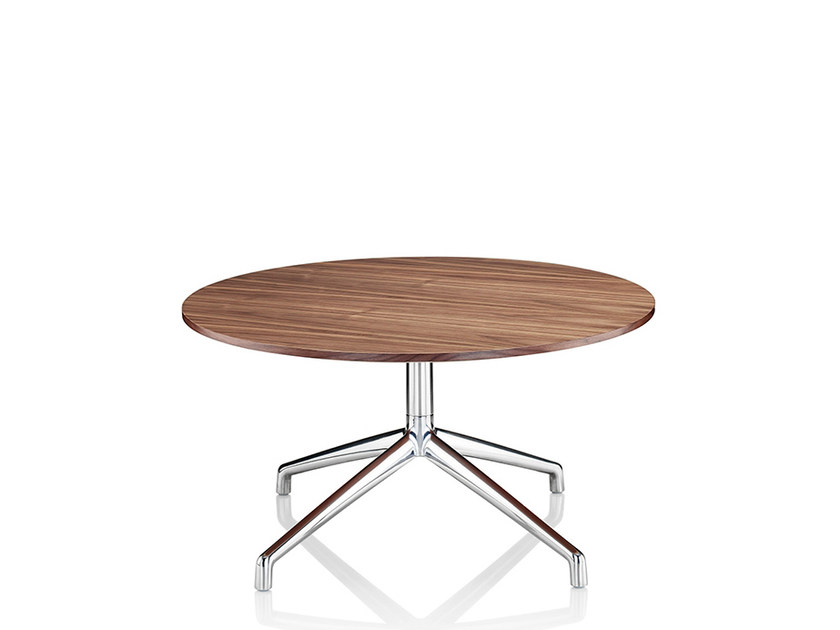 Round coffee table with 4-star base KRUZE   Melamine coffee table by Boss Design