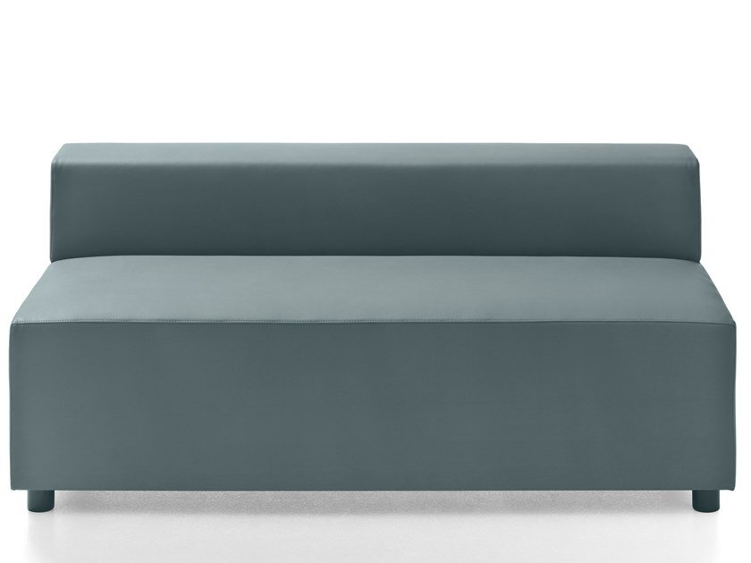 Leather bench with back KUADRA | Bench by Kastel