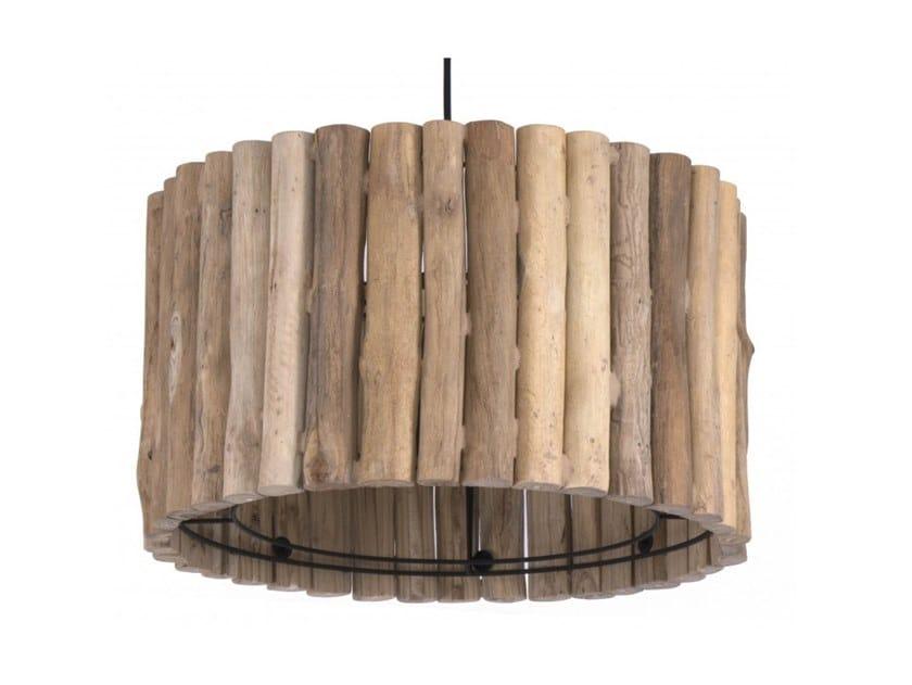 Wooden pendant lamp KUALA by Flam & Luce