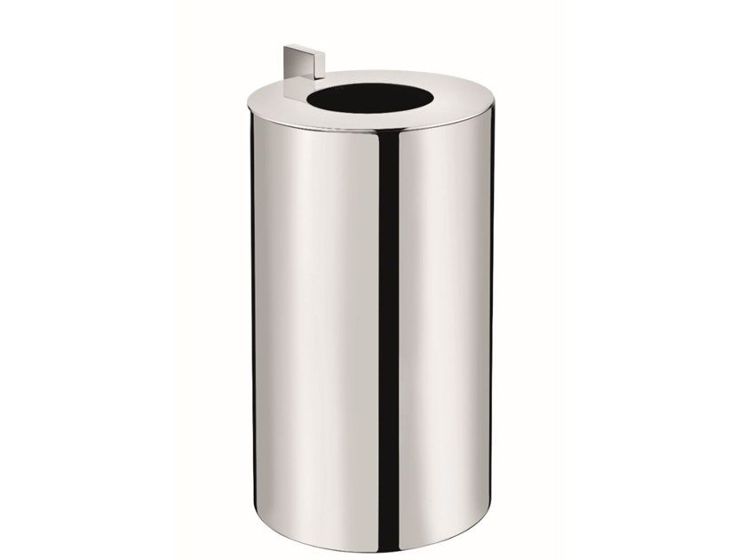 Chromed brass bathroom waste bin KUBIC 369351002 | Bathroom waste bin by pomd'or