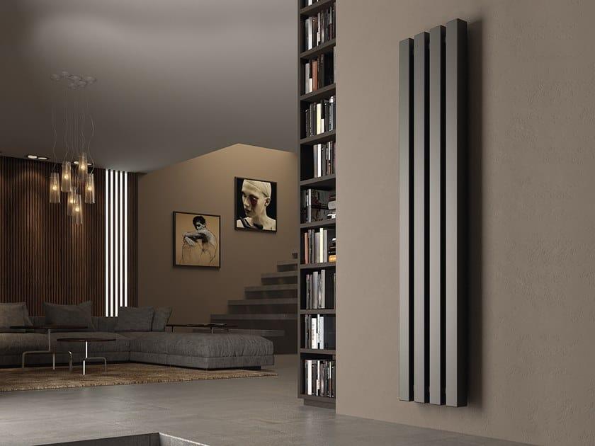 Vertical wall-mounted steel decorative radiator KUBIK by XÒ by Metalform