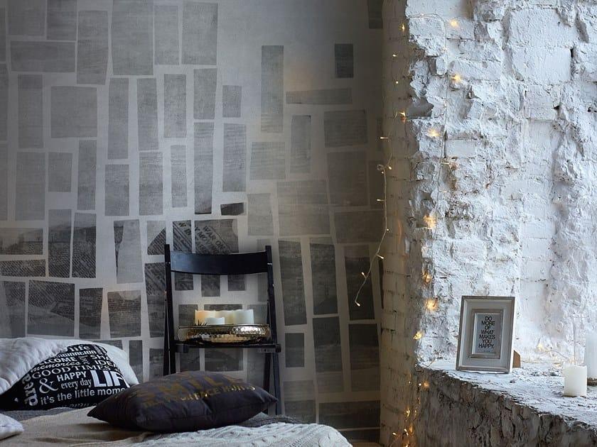 Wall effect geometric Digital printing wallpaper KUBO' by Tecnografica Italian Wallcoverings
