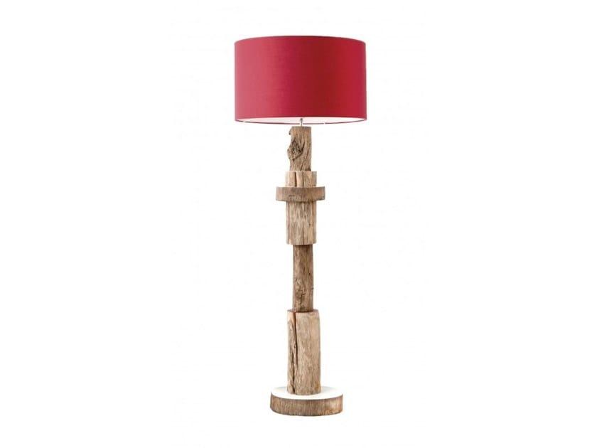 Wooden floor lamp KUMYA by Flam & Luce