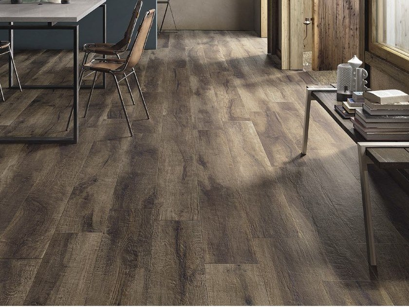 Porcelain stoneware flooring with wood effect KUNI T by Ceramica d'Imola