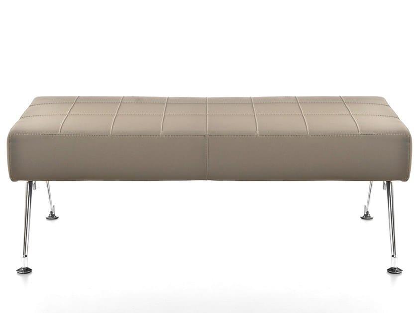 Modular leather bench KUROS | Bench by Kastel
