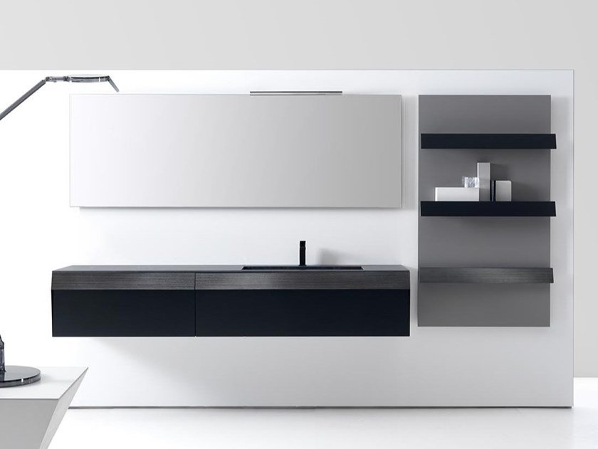 Wall-mounted vanity unit with drawers KUT 01 by Karol