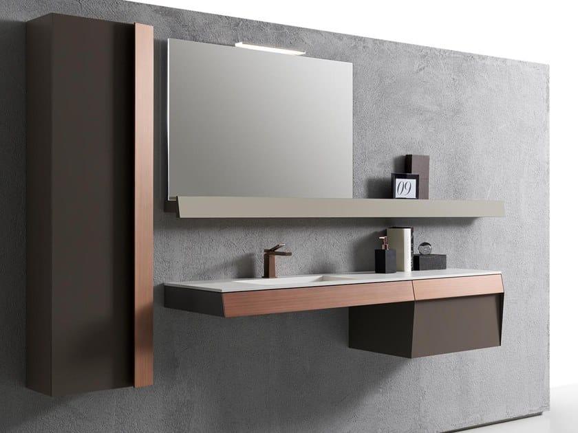Mobile lavabo sospeso con cassetti KUT 05 by Karol