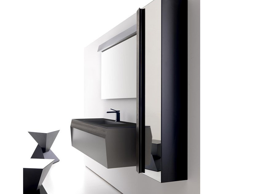 Mobile lavabo sospeso con cassetti KUT 07 by Karol