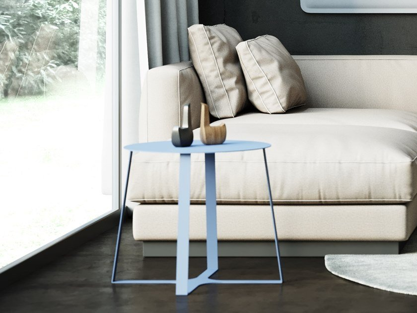 Round coffee table KYOTO by Steelbox by Metalway