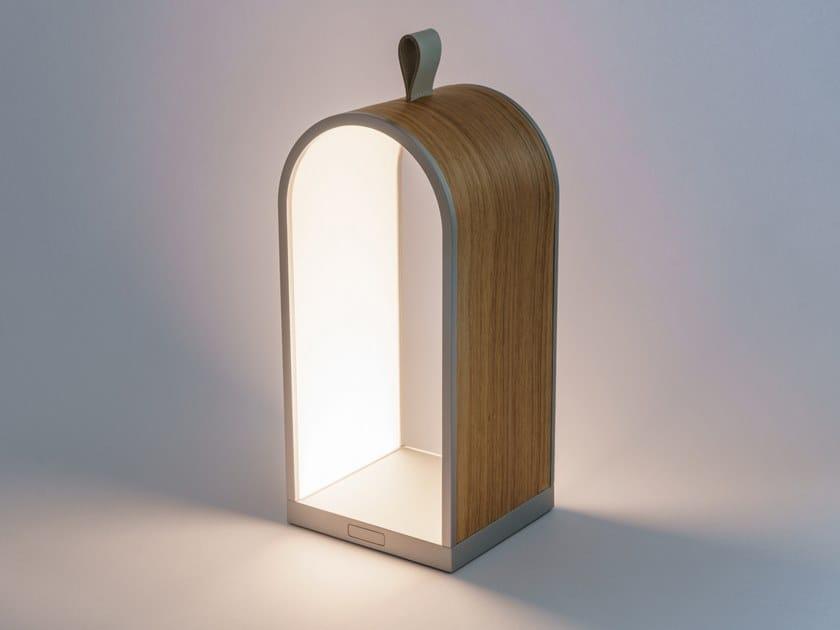Lampada da tavolo a LED in legno con ricarica USB KYTA - LIGHT WOOD by Emera Design