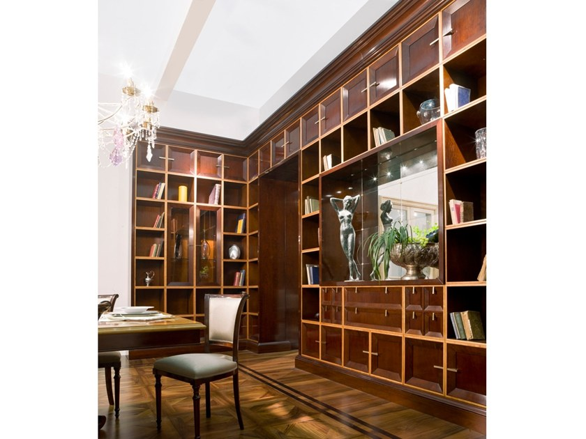 Wooden bookcase / storage wall L 1394 | Storage wall by Annibale Colombo