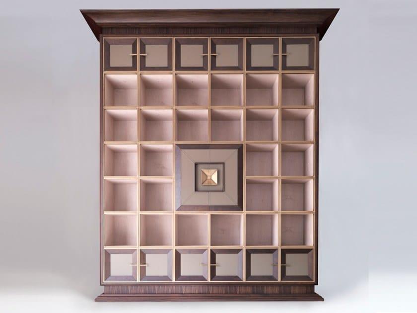 Scaffale a giorno componibile in legno l libreria