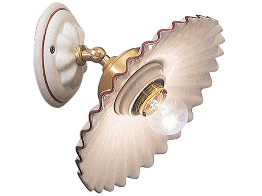 Adjustable ceramic wall light L'AQUILA | Adjustable wall light by FERROLUCE