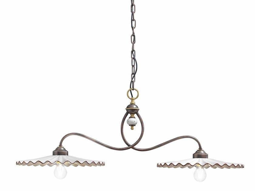 Direct light ceramic chandelier L'AQUILA | Chandelier by FERROLUCE