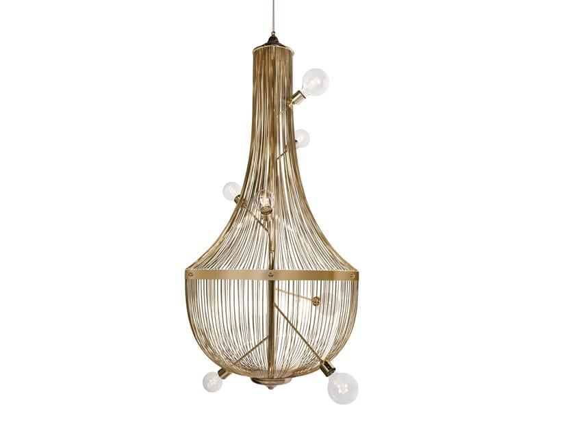 Brass pendant lamp L'CHANDELIER by Boca do Lobo