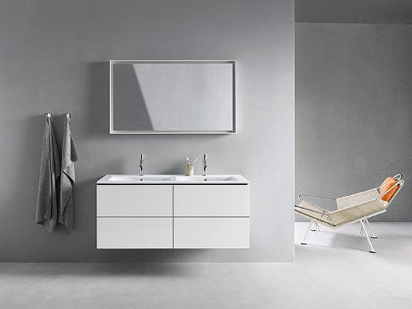 Sectional vanity unit with drawers L-CUBE - ME | Double vanity unit by Duravit