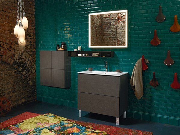 Sectional floor-standing vanity unit with drawers L-CUBE - ME | Floor-standing vanity unit by Duravit