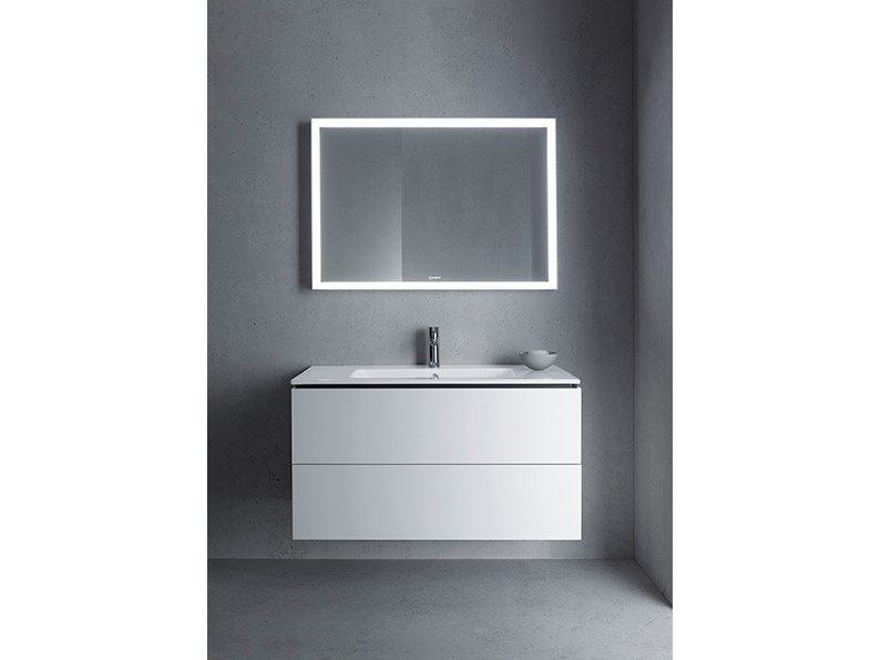 Sectional wall-mounted vanity unit with drawers L-CUBE - ME | Wall-mounted vanity unit by Duravit