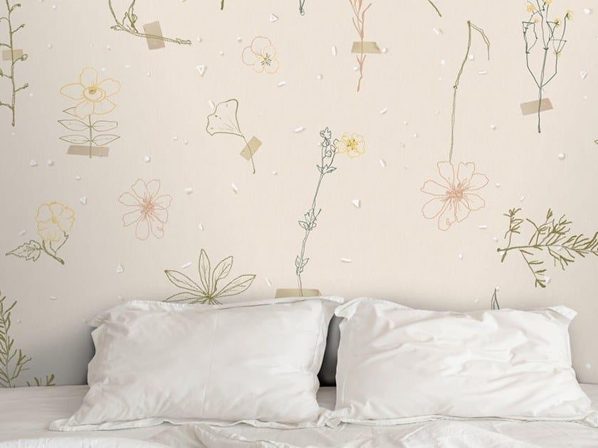 Ecological washable PVC free wallpaper L'ERBARIO DI ELENA by Wallpepper