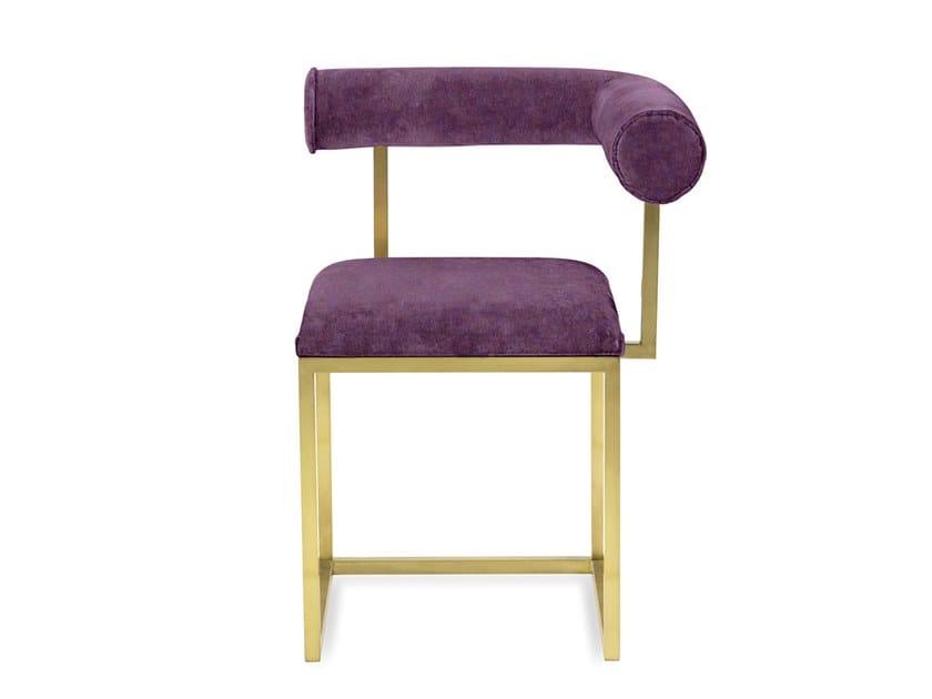 Upholstered velvet chair L MONOCHROME   Chair by Secondome Edizioni